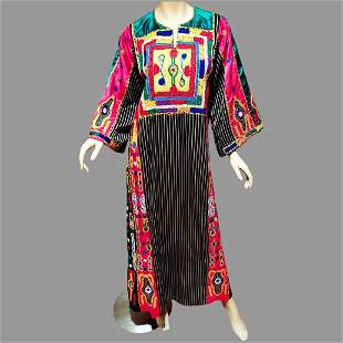 Vtg Ethnic Heavily Embroidered middle Eastern Kimono