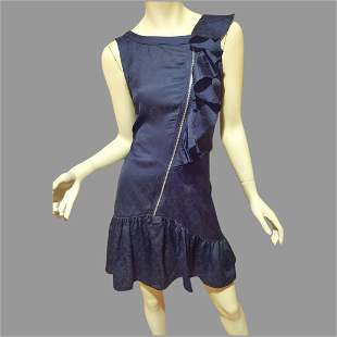 Vtg Marc Jacobs Zipper ruffle mini dress Ton Sur Ton