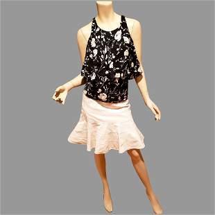 Vtg Polo Ralph Lauren skirt and silk top Ensemble