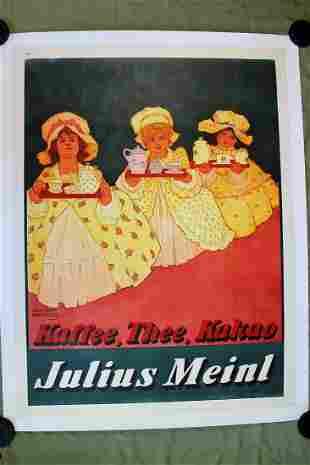 "Julius Meinl Coffee (1905) 37.5"" x 49.5"" Austrian"