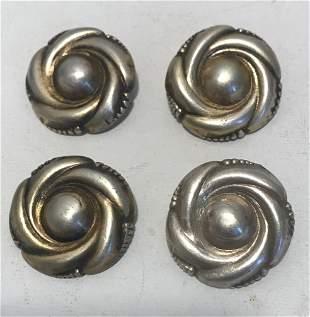 4 Pcs Biedermeier silver brooches