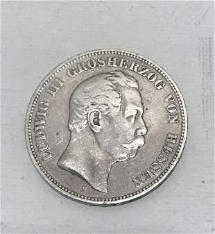 German silver coin | 1876 | 5 mark | Ludwig III Von