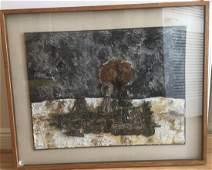 Gio Pomodoro, Giordano di negro, silver relief painting