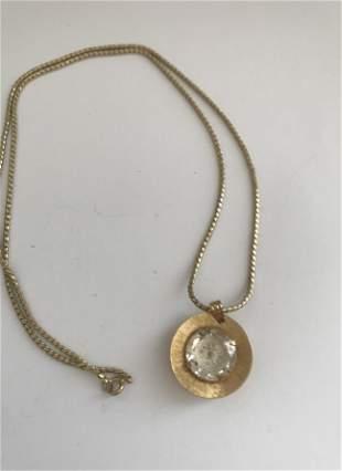 Russian mechanical gilded pendant watch