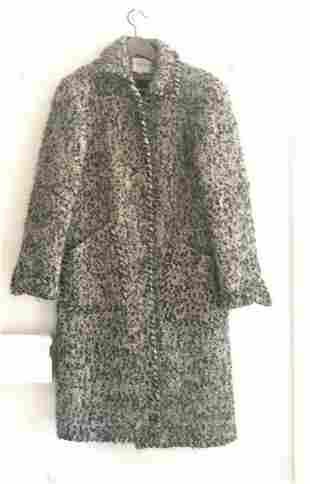 Oscar de la renta vintage boucle coat