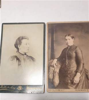 2 vintage portrait photos London
