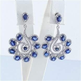 14K White Gold - Earring