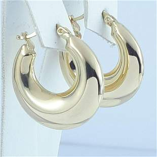14K Yellow Gold - Earring