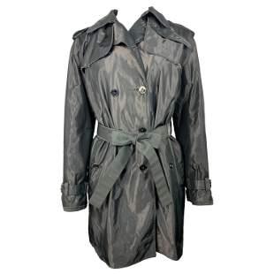 Dolce & Gabbana Grey Trench Rain Mini Coat Size 42