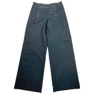Vintage Celine Navy Cotton Wide Leg Pants Size 40