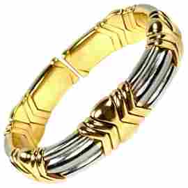 Bulgari Yellow and White Gold Cuff Bangle Bracelet