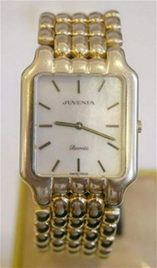 New Solid 18k Yellow Gold JUVENIA Men's watch Ref
