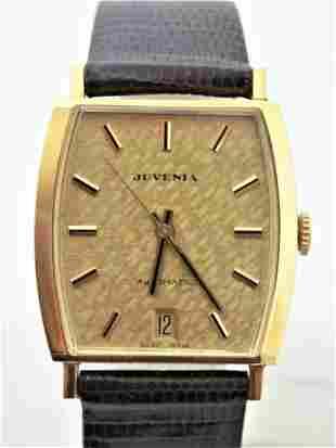 Solid 18K Gold Unisex JUVENIA MACHO 25J AUTOMATIC Watch