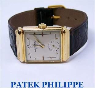 Vintage 18K PATEK PHILIPPE Mens Winding Watch 1940s*