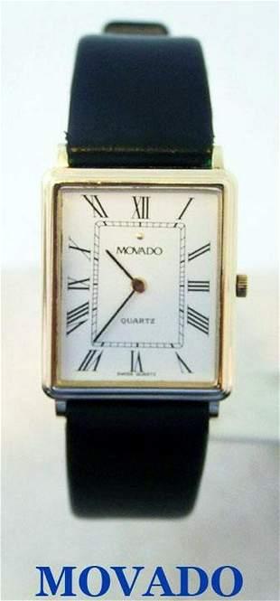 Slim 14k Gold MOVADO Mens Quartz Watch Ref.79972* EXLNT
