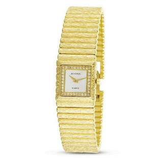 New 18k Gold JUVENIA Ladies watch w/Mother of Pearl