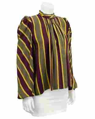 Anonymous Stripe Silk Blouse
