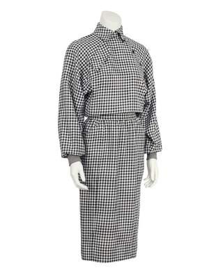 Ungaro Black and White Houndstooth Dress