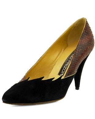 Maud Frizon Suede and snakeskin pumps