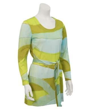 Vera Blue & Green Graphic Print Dress