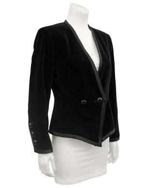 Yves Saint Laurent Black velvet jacket