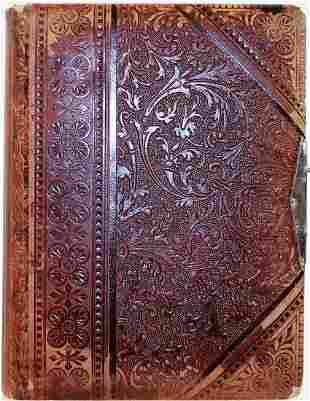 Large Victorian Cabinet Photo Album