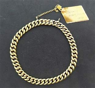 Antique Russian 14k Yellow Gold Chain Bracelet