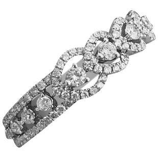 Classic Bridal White Diamond 18 Karat White Gold