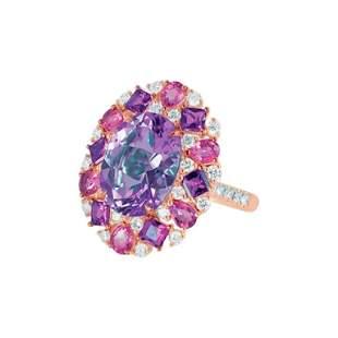 Natkina Diamond Rare Pink Tourmaline Purple Amethyst 18
