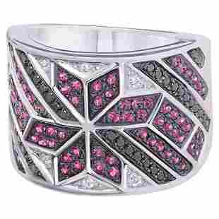 Spiritual Jewellery Star Ruby White Diamond White Gold