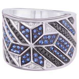 Spiritual Jewellery Star Blue Sapphire White Diamond