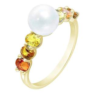 Rare Red / Yellow / Orange Sapphire Pearl Diamond