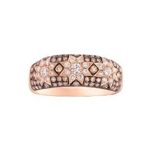 Rare Customize Cognac Diamond Yellow Gold Ring
