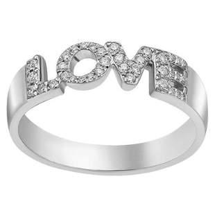Natkina White Diamond Precious White Gold LOVE Ring