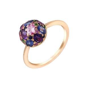 Impressive Blue Sapphire Diamond Amethyst Pink Sapphire