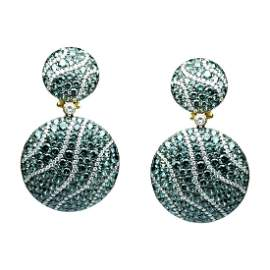 Tsavorite Diamond Yellow Gold 18 Karat Chic Dangle