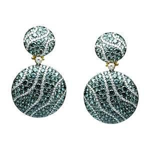 Tsavorite Diamond Yellow Gold 18 Karat Chic Dangle