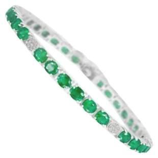Magnificent 10ct Green Emerald Diamond Fine Jewellery
