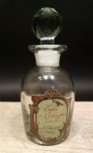 Glass French Eau De Cologne Small Bottle
