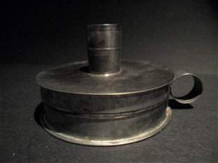 Tin Candle Holder Tinder Box Toleware