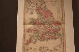 1856 Map of England and Wales