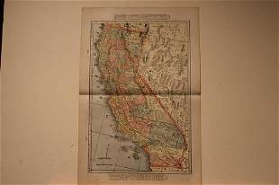 1889 Map of California
