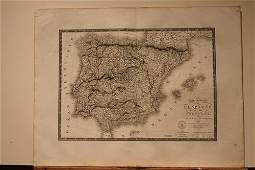 1821 Map of Spain and Portugal