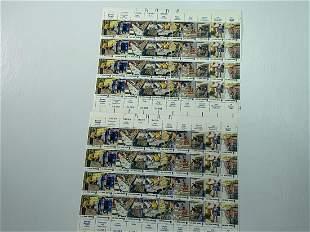 Scott No. 1489-98 4 each MNH Stamp Plate Block Set