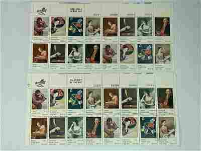 Scott No. 1530-37 2 each MNH Stamp Plate Block Set