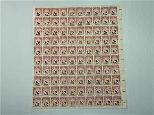Scott No. J97 1 each MNH Stamp Mint Sheet