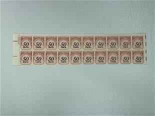 Scott No. J99 1 each MNH Stamp Plate Block Set