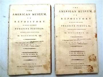 1787 Magazines Federalist Papers Constitution