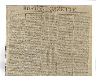 1805 Newspaper July 4th Americana Constitution