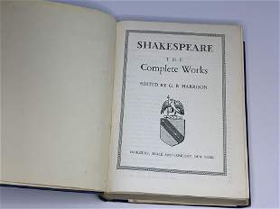 Shakespeare the Complete Works edited by GB Harrison